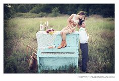 i know this was for a photoshoot..but how cute would a [roughly] painted piano be in a house?!