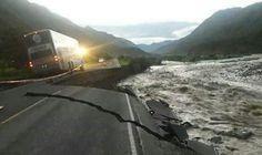 Varios tramos de la vía son inaccesibles. Perú.. 12/05/17