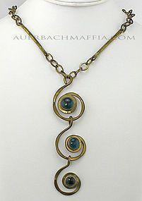 Modernist Jewelry and Modern Art by Auerbach and Maffia online catalog - Estate Jewelry, Costume Jewelry Crafts, Jewelry Art, Handmade Jewelry, Jewelry Design, Jewelry Ideas, Fashion Jewelry, Wire Wrapped Jewelry, Metal Jewelry, Pendant Jewelry