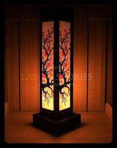 New Asian Mount Fuji Pagoda Cherry Blossom Room Divider Beaded Curtain Screen