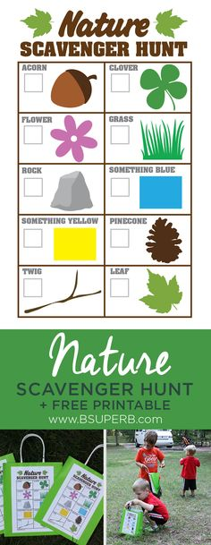 Nature Scavenger Hunt Free Printable and Tutorial