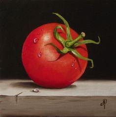 """Tomato No. - Original Fine Art for Sale - © Jane Palmer Vegetable Drawing, Vegetable Painting, Still Life Photography, Fine Art Photography, Still Life Fruit, Fruit Painting, Fruit Art, Art For Sale, Food Art"