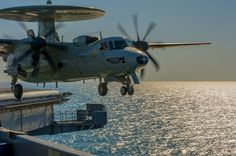 E-2C Hawkeye, launches from the flight deck of aircraft carrier USS Carl Vinson (CVN 70)
