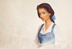 Imaginary World: Obras artísticas de princesas y personajes femeninos de dibujos Disney con un enfoque más realista