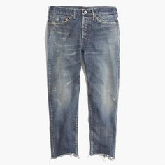 Madewell Chimala Selvedge Used Ankle-Cut Jeans Drop Crotch, Cut Jeans, Madewell, Ankle, Denim, Clothes For Women, Stylish, Hannukah, Pants