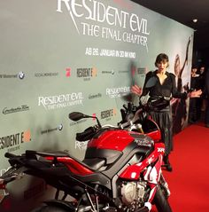 Resident Evil - The Final Chapter // European premiere in Berlin with Milla Jovovich & Paul W. S. Anderson.  Read the article and watch the videos here: www.themotoquest.com  BMW Motorrad BMW S1000 XR The Moto Quest