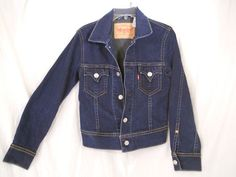 LEVI STRAUSS Type 1 Dark Denim/JEAN ICONIC JACKET Women M #EBAY#FINDS#JEAN#DENIM