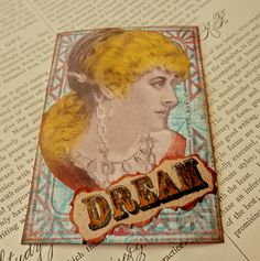 SALE ACEO ATC  One-of-a-kind Collage and Ink Dream by PaperPastiche on Etsy