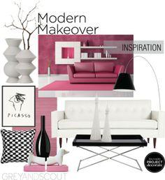 """""""Pink a la Modern"""" by missbeaheyvin on Polyvore"""
