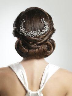 Wedding Hairstyles ~ Vintage 1920's inspired twist up~do