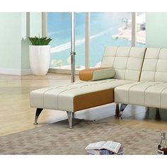 ACME Furniture 57142 Lytton Adjustable Chaise with Pillow One Size Beige  Brown PU ** Find out more about the great product at the image link. (Amazon affiliate link)