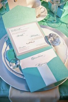b344153f4563 Tiffany Blue Themed Wedding Ideas And Invitations- Perfect For Winter  Weddings…
