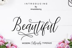 Beautiful Script by Amarlettering on @creativemarket