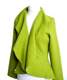 Bolero Jacket, Vest Jacket, Boiled Wool Jacket, Cool Coats, Work Attire, Jacket Style, Fashion Outfits, Blazer, Primavera Estate