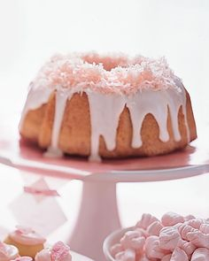 Pink Coconut Cake -- bakes in just 35 minutes!