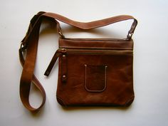 Folded Bag Handmade Genuine leather bag Crossbody by 74streetbags, $99.00