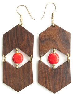 Eyes and Arrows earrings red - Fair Trade - Mata Traders