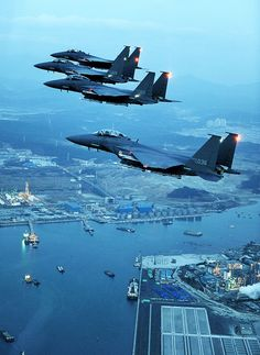 F-15E Strike Eagles in formation