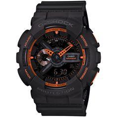 Casio G-Shock GA-110TS-1A4ER. Mooie en stoere G-Shock. Dit model bevat een Automatisch LED-lampje Met een lichte draaibeweging van de pols laat u de LED-lampjes van het display oplichten, daarnast is het horloge schok- en trilbestendig.