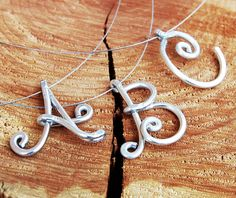 Silver Aluminum Wire Formed Personalized by Karismabykarajewelry, $16.00