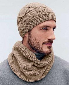 шапка и шарф для мужчин