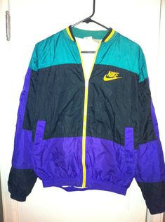 Nike 90s Vintage Windbreaker Jacket by BCallyVintage on Etsy, $20.00