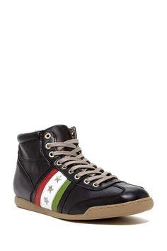 Pantofola d'Oro Italy | Leather Hightop Sneaker #pantogoladoroitaly #hightop #sneakers