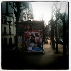Photo prise le 29 février 2012.  Rue Sorbier, 75020, Paris.