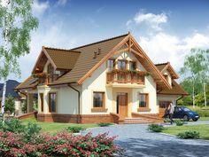 DOM.PL™ - Projekt domu DA Gracjan CE - DOM DS1-01 - gotowy koszt budowy Design Case, Küchen Design, Model House Plan, House Plans, 1200 Sq Ft House, Modern House Design, Home Fashion, My Dream Home, Portal