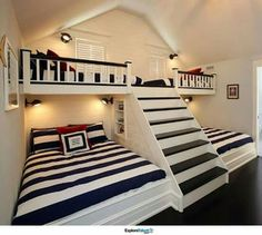 Such a cute guest or kids bedroom idea!
