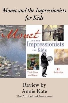 Monet was the father of Impressionist painting. Check out our Art appreciation series - 10 Claude Monet Art Projects for Kids - impressionism, lily pond etc Projects For Kids, Art Projects, Kids Series, Great Paintings, Claude Monet, Teaching Art, Famous Artists, Art Music, Art Lessons