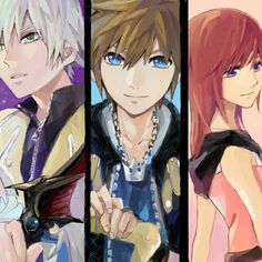 Riku, Sora and Kairi