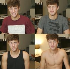 the evolution of Cameron Dallas's shirt choices hilarious