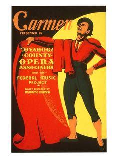 Vintage Theatre Poster - Carmen