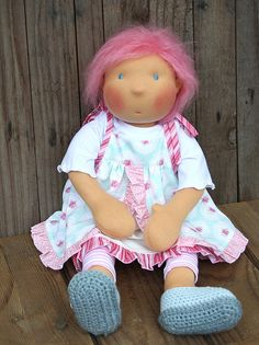 APRIL  18  waldorf style doll by CAROcreated on Etsy, €260.00