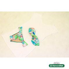 Blusinha branca + Biquíni - Track & Field