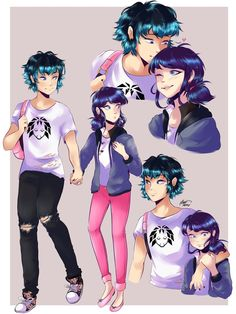"""chatartistx: """"AU where Luka is in a super popular band and is dating Marinette and he picks her up afterschool;; However, there tends to be a lot of paparazzi when he picks her up and he so comforts her  Lukanette is consuming me tbH """""""