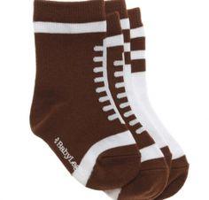 Football Baby Socks  www.SpecialBabyShowerGifts.com