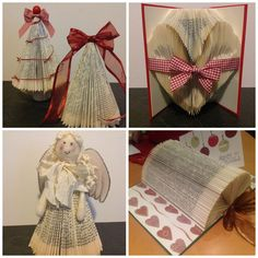 Folded book decorations by LeenaH