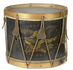 Civil War Era Drum with Eagle and Shield design. (John C. Haynes & Co., Boston).