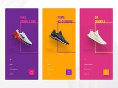Modern Shoe Store Modern Shoe Store by Akshay Bukka Site Web Design, Mobile Web Design, Website Design Layout, Web Banner Design, Ad Design, Branding Design, Layout Site, Email Design, Graphic Design Brochure