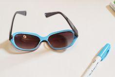 DIY color pop sunglasses using Sharpie paint pens - so cute!