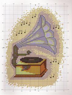 Gallery.ru / Фото #10 - Keresztszemes magazin 24 - tymannost Cross Stitch Music, Cross Stitch Patterns, Kids Rugs, Gallery, Decor, Decoration, Kid Friendly Rugs, Roof Rack, Decorating