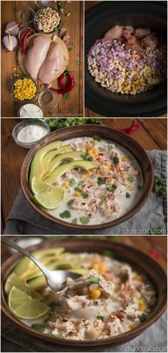 Creamy White Chicken Chili Is The Perfect Slow Cooker Meal For Busy Nights #recipe #chili #chicken #slowcooker #crockpot via @vanessacrafting