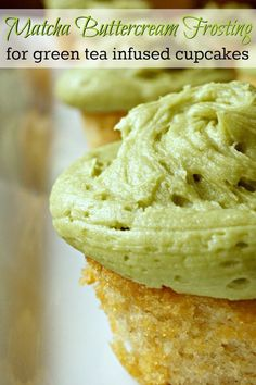 This matcha buttercream frosting recipe is a perfect complement to green tea infused cupcakes or chocolate cake. Or even a white cake with fresh raspberries. The delicate flavor is a unique addition t (Green Cake Flavors) Frosting Recipes, Buttercream Frosting, Cupcake Recipes, Cupcake Cakes, Dessert Recipes, Icing, Dessert Blog, Macaroon Recipes, Tea Recipes