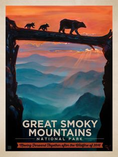 2016 Great Smokies Wildfire Relief Print 1