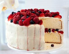 Orange Layer Cake with Buttercream Frosting and Berries Epicurious.com