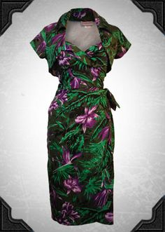 Malibu Tiki Dress - £130.00 : Deadly Is The Female, Vintage inspired clothing & accessories for stunning starlets & burlesque beauties