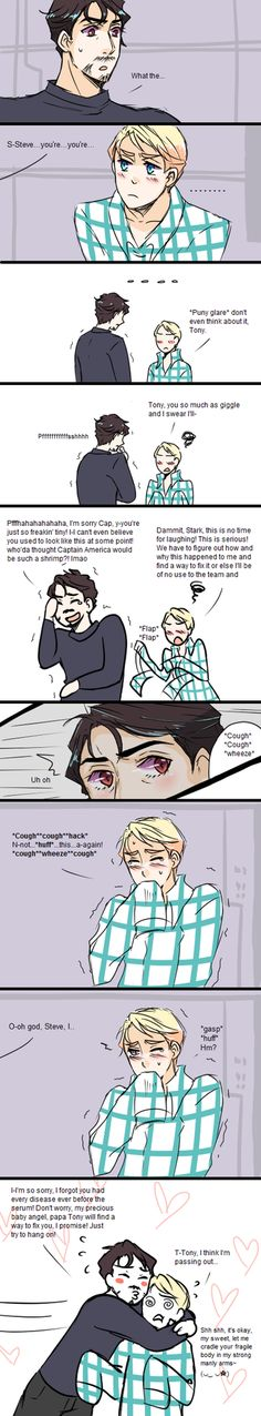 I would so wwnt a fanfiction where this happens to steve but tony's not that guwy like in the last strip