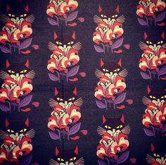 Miu Miu - I swear the eyes want me! Textile Texture, Textile Prints, Textile Patterns, Textile Design, Color Patterns, Print Patterns, Fabric Wallpaper, Pattern Wallpaper, Pattern Art